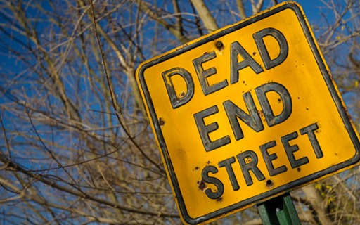 Dead end street ahead