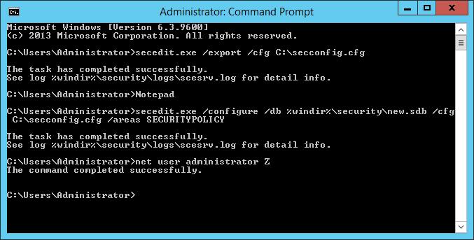how to change windows password requirements
