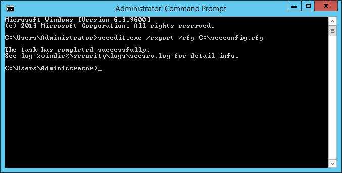 windows disable password complexity command line