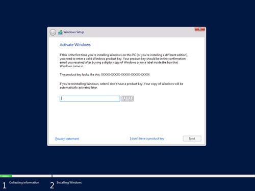 Windows Setup - Activate Windows