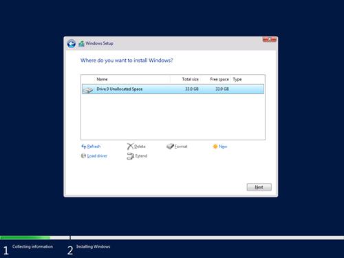 Windows Setup - Where do you want to install Windows?